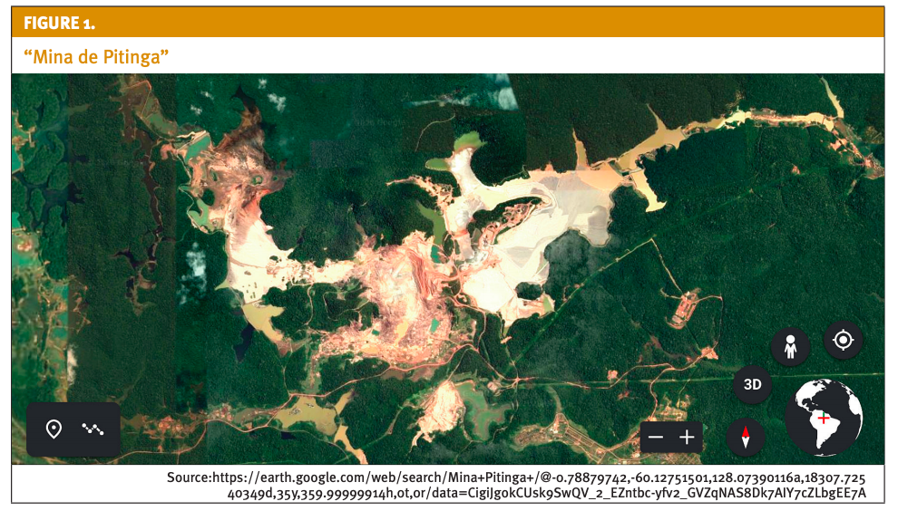 Satellite view of Mina Pitinga -- Zoomed in