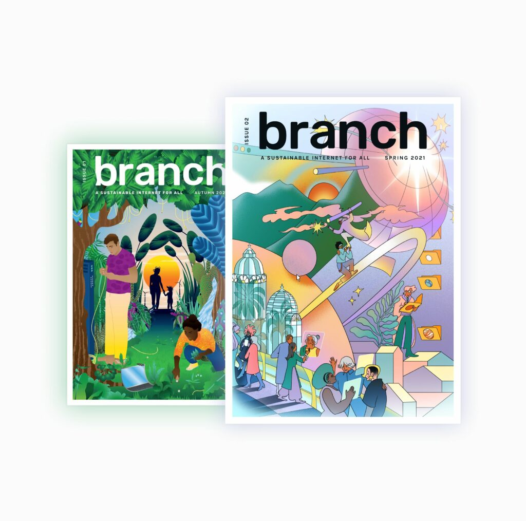 Covers of Branch magazine