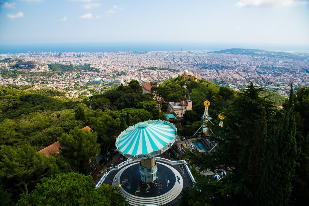 View from Barcelona's hills