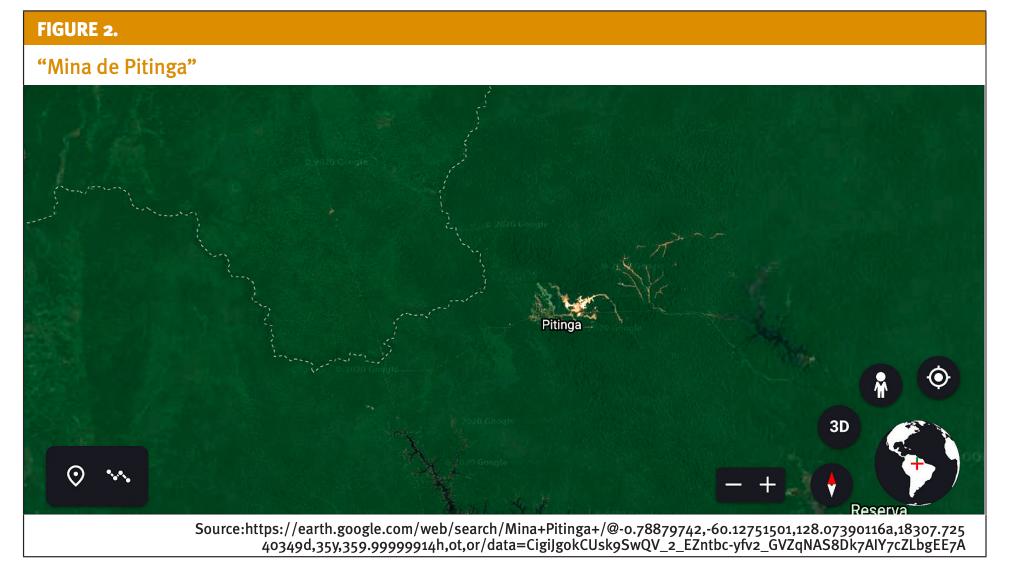 Satellite view of Mina Pitinga