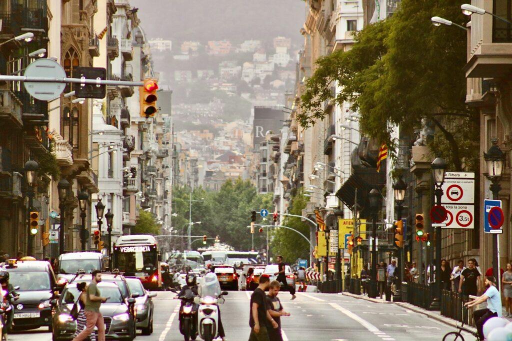 A street scene in Barcelona
